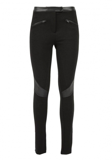 Zwarte vegan leather legging van Silvian Heach
